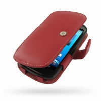 Leather Book Case for Acer Liquid E1 Duo V360 (Red)