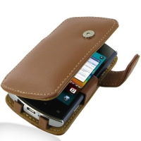 Acer Liquid Metal S120 Leather Flip Cover (Brown) PDair Premium Hadmade Genuine Leather Protective Case Sleeve Wallet