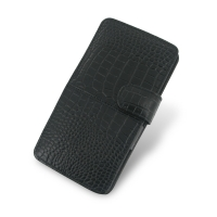 Acer Liquid S1 Leather Flip Cover (Black Croc) PDair Premium Hadmade Genuine Leather Protective Case Sleeve Wallet