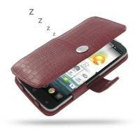 Leather Book Case for Acer Liquid S2 S520 (Red Crocodile Pattern)