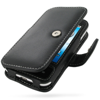 Leather Book Case for Acer Neo Touch P400/beTouch E400 (Black)