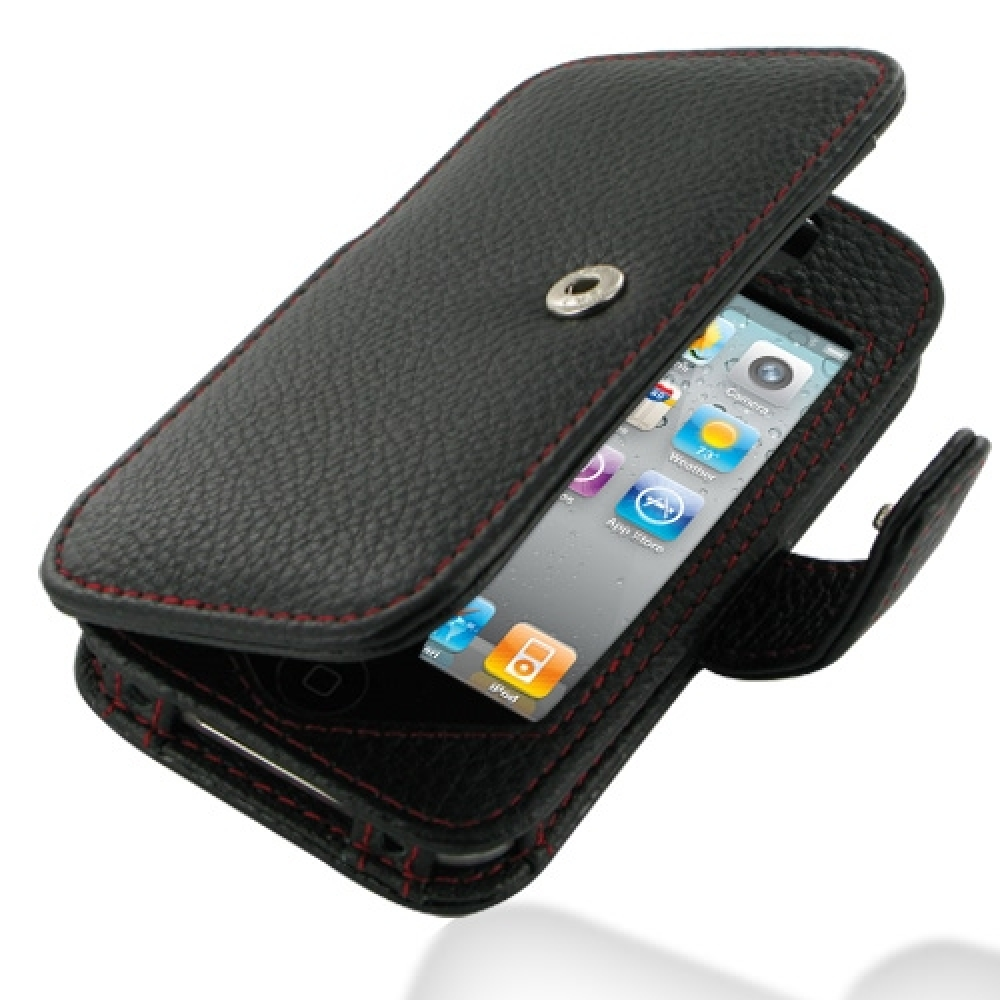 10% OFF + FREE SHIPPING, Buy PDair Quality Handmade Protective iPhone 4 4s Genuine Leather Flip Cover (Snap Button) (Red Stitching). You also can go to the customizer to create your own stylish leather case if looking for additional colors, patterns and t