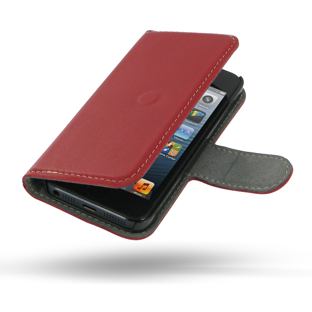 10% OFF + FREE SHIPPING, Buy Best PDair Quality Handmade Protective iPhone 5 | iPhone 5s Genuine Leather Flip Cover (Red) online. Pouch Sleeve Holster Wallet You also can go to the customizer to create your own stylish leather case if looking for addition
