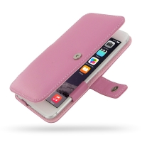 Leather Book Case for Apple iPhone 6 Plus | iPhone 6s Plus (Petal Pink)