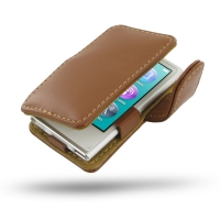 Leather Book Case for Apple iPod nano 8th / iPod nano 7th Generation (Brown)