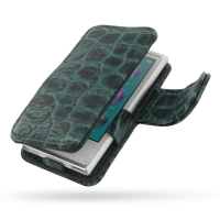 Leather Book Case for Apple iPod nano 8th / iPod nano 7th Generation (Green Crocodile Pattern)
