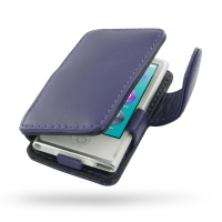 iPod nano 8th / nano 7th Leather Flip Cover (Purple) PDair Premium Hadmade Genuine Leather Protective Case Sleeve Wallet