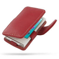 Leather Book Case for Apple iPod nano 8th / iPod nano 7th Generation (Red)