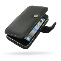 iPod Touch 4th Leather Flip Cover PDair Premium Hadmade Genuine Leather Protective Case Sleeve Wallet