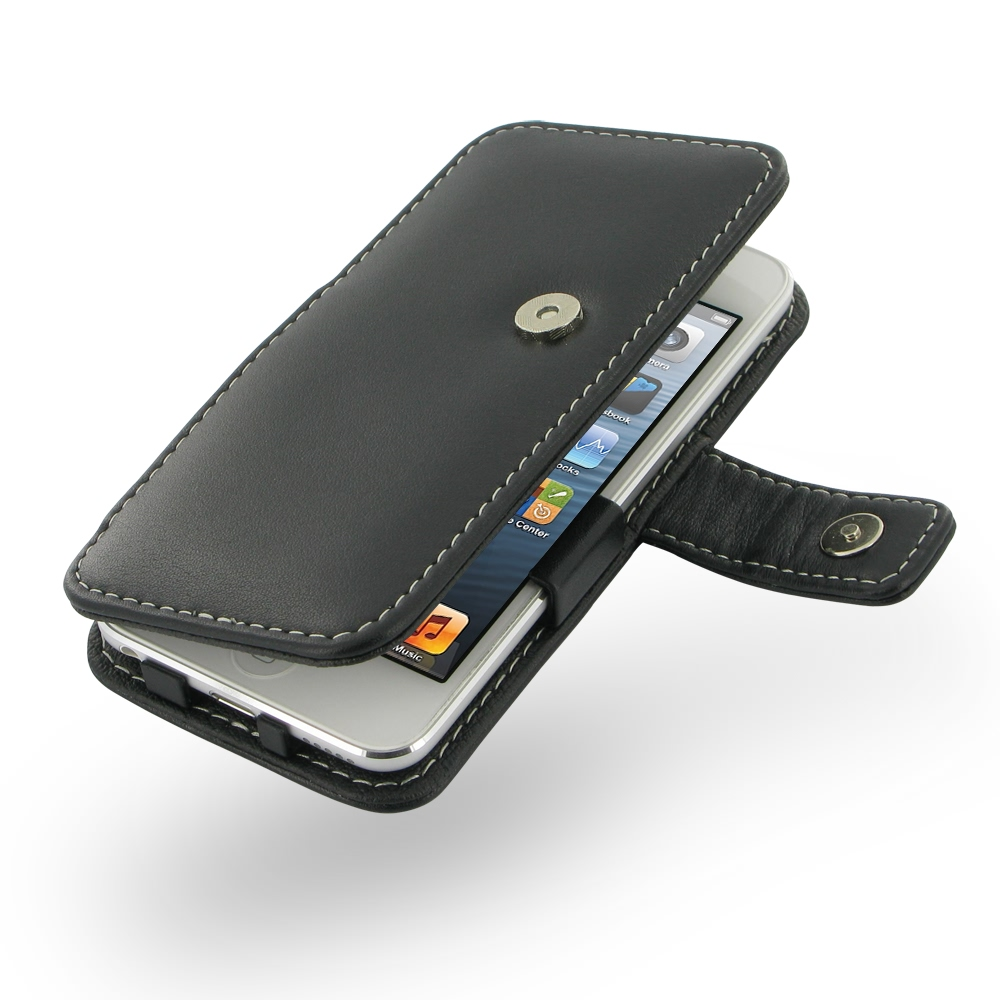 new styles 0550c f469f Leather Book Case for Apple iPod touch 6 / iPod touch 5th Generation