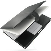 MacBook 2008 13 Leather Flip Cover (Black) PDair Premium Hadmade Genuine Leather Protective Case Sleeve Wallet