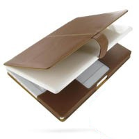 Leather Book Case for Apple MacBook 2008 13