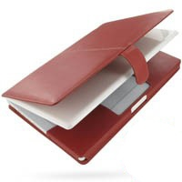 MacBook 2008 13 Leather Flip Cover (Red) PDair Premium Hadmade Genuine Leather Protective Case Sleeve Wallet