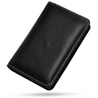 iPod nano 2nd Leather Flip Cover (Black) PDair Premium Hadmade Genuine Leather Protective Case Sleeve Wallet