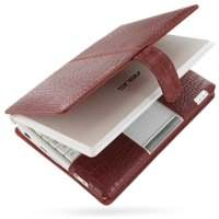 Asus Eee PC 900 Leather Flip Cover (Red Croc) PDair Premium Hadmade Genuine Leather Protective Case Sleeve Wallet