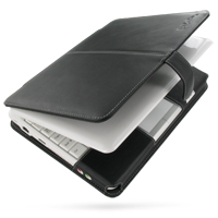 Leather Book Case for Asus Eee PC 904HA 904HD (Black)