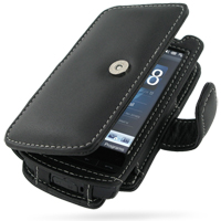 Leather Book Case for AT&T HTC Pure (Black)