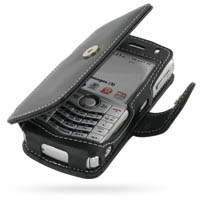 Leather Book Case for BlackBerry 8130 8120 (Black)