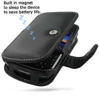 Leather Book Case for BlackBerry Bold 9650 (Black)