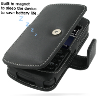 Leather Book Case for BlackBerry Curve 8350i (Black)