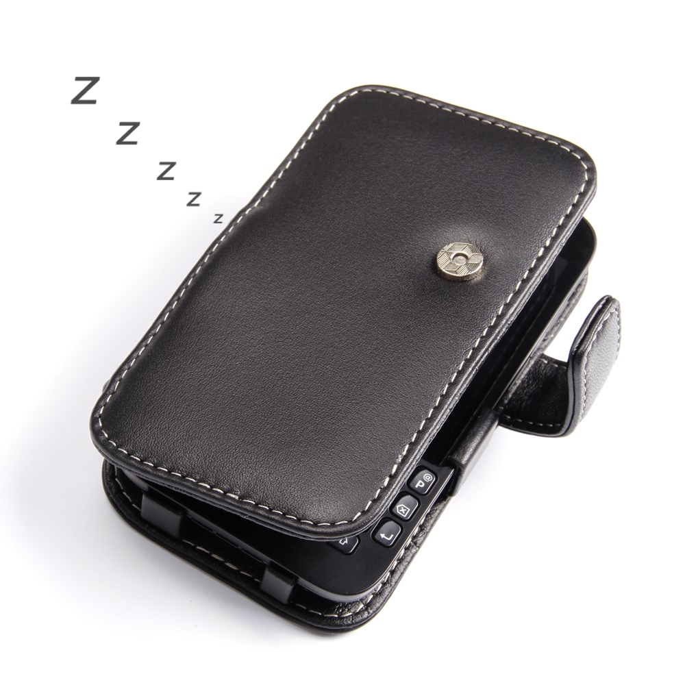timeless design 7b3a3 bf71f Leather Book Case for BlackBerry Q5