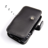BlackBerry Q5 Leather Flip Cover PDair Premium Hadmade Genuine Leather Protective Case Sleeve Wallet