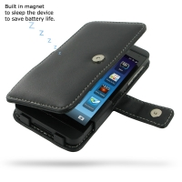 BlackBerry Z10 Leather Flip Cover PDair Premium Hadmade Genuine Leather Protective Case Sleeve Wallet