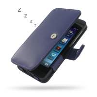 BlackBerry Z10 Leather Flip Cover (Purple) PDair Premium Hadmade Genuine Leather Protective Case Sleeve Wallet
