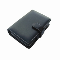 Leather Book Case for Dell Axim X3 X3i X30 (Black)