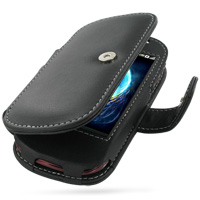 Leather Book Case for Dell Mini3i (Black)
