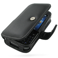 DoCoMo SC-01B Leather Flip Cover (Black) PDair Premium Hadmade Genuine Leather Protective Case Sleeve Wallet