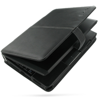 Epson Endeavor Na01 Mini Leather Flip Cover (Black) PDair Premium Hadmade Genuine Leather Protective Case Sleeve Wallet