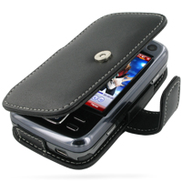 Leather Book Case for Eten Glofiish M810 (Black)