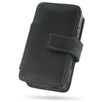 Leather Book Case for Gigabyte GSmart i300 (Black)