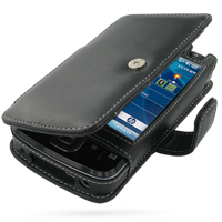HP iPAQ 200 Series Leather Flip Cover PDair Premium Hadmade Genuine Leather Protective Case Sleeve Wallet