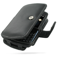 Leather Book Case for HP iPAQ Glisten (Black)