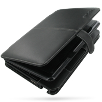 Leather Book Case for HP Mini 1000 1001 Series (Black)