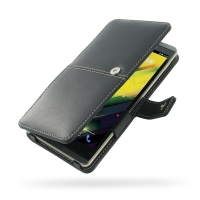 HP Slate 6 VoiceTab Leather Flip Cover PDair Premium Hadmade Genuine Leather Protective Case Sleeve Wallet