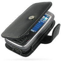 Leather Book Case for HTC 5800 s720 (Black)