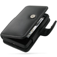 Leather Book Case for HTC Aria (Black)