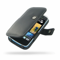 HTC Desire 500 Leather Flip Cover PDair Premium Hadmade Genuine Leather Protective Case Sleeve Wallet