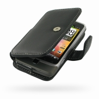 Leather Book Case for HTC Desire Z/T-mobile G2 (Black)
