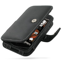 Leather Book Case for HTC Droid Incredible ADR6300 (Black)