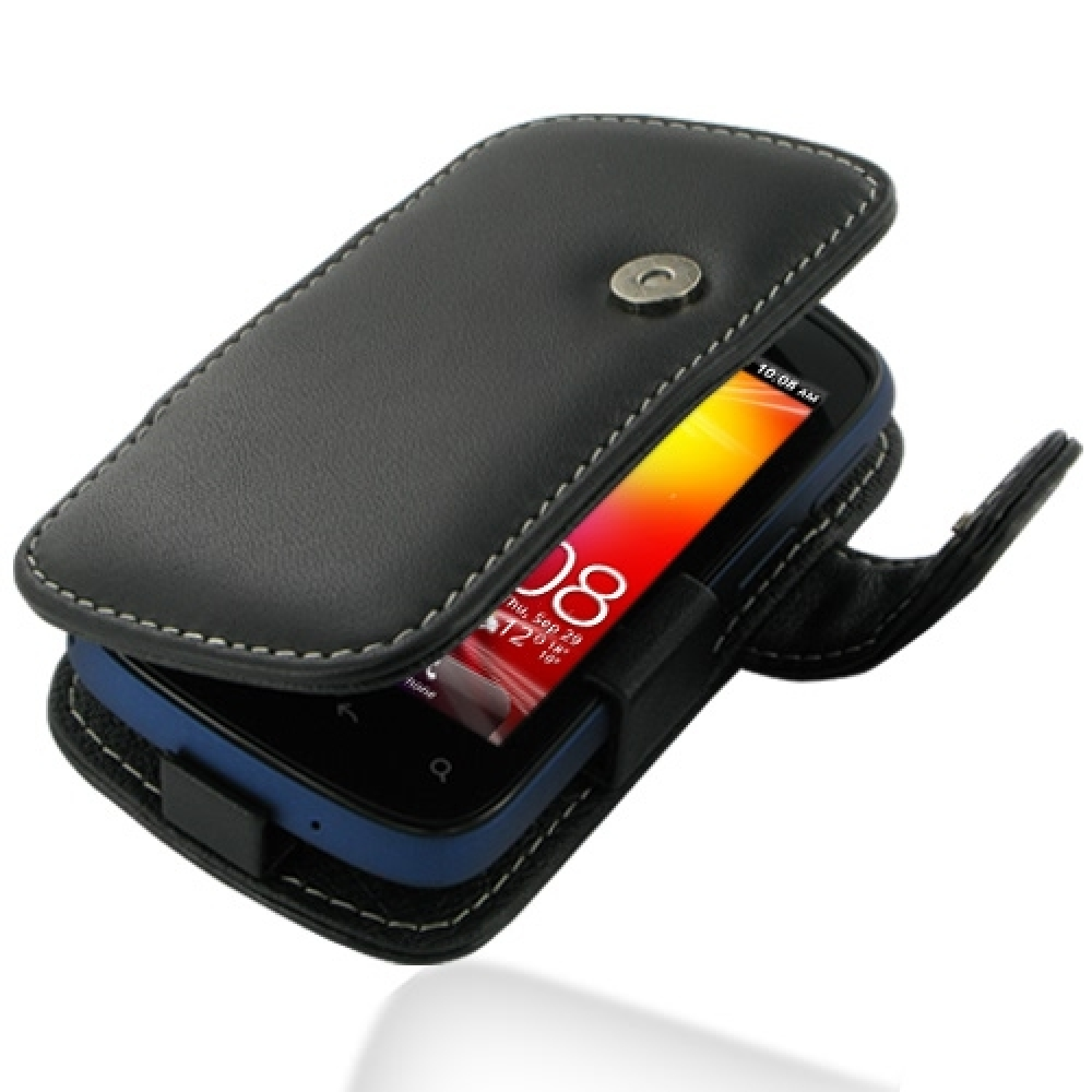 best service 930ee 169b1 Leather Book Case for HTC Explorer A310e (Black)