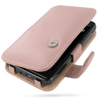 HTC HD7 T9292 Leather Flip Cover (Pink) PDair Premium Hadmade Genuine Leather Protective Case Sleeve Wallet