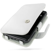 HTC HD7 T9292 Leather Flip Cover (White) PDair Premium Hadmade Genuine Leather Protective Case Sleeve Wallet