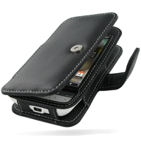 Leather Book Case for HTC Hero (Black)
