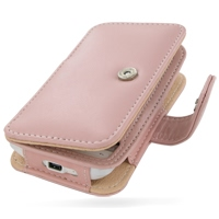 Leather Book Case for HTC Hero (Pink)