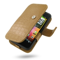 10% OFF + FREE SHIPPING, Buy Best PDair Top Quality Handmade Protective HTC Incredible S Leather Flip Cover (Brown Croc) online. Pouch Sleeve Holster Wallet You also can go to the customizer to create your own stylish leather case if looking for additiona