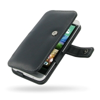 Leather Book Case for HTC One E8